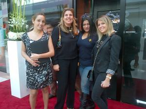 With gal pals at HUBLOT Abu Dhabi