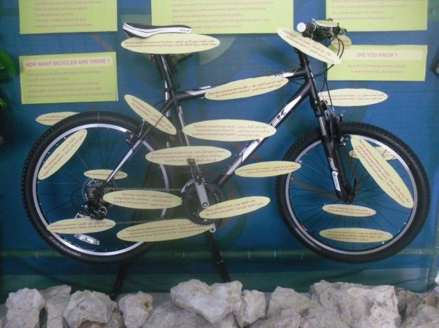 Bicycle exhibit Shereen Shabnam