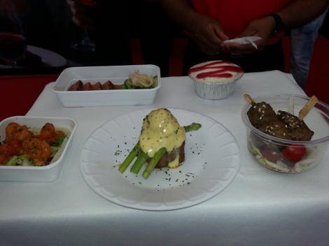 Food samples at Taste of Dubai