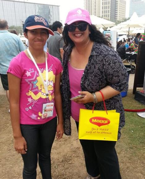 Tash with one of my favourite food bloggers - the gorgeous Ishita