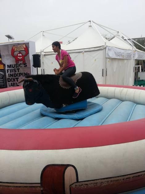 Tash tries a scary Bull ride