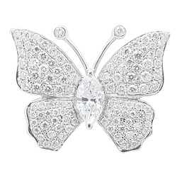 Butterfly Motif Diamonds Pendant with chain