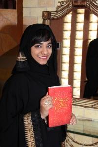 Sara with her book